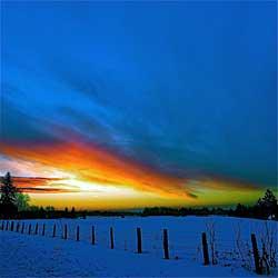sunrise under
