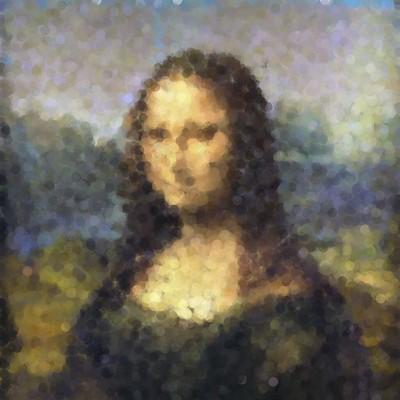 Pointillist Mona by Fdecomite