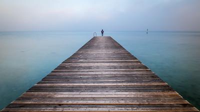 Girl on Garda Lake by Guiseppe Milo